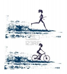 14812210-silhouette-of-marathon-runner-and-cyclist-race--abstract-background