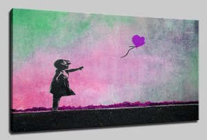 This little girl is always reaching for that purple balloon...