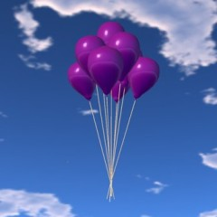 Balloon Bunch Purple1